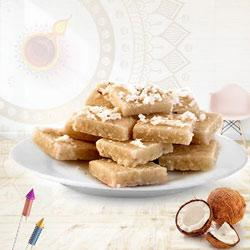 Sumptuous Coconut Barfi Pack for Pooja