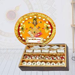 Special Pooja Thali with Assorted Sweets