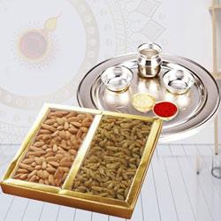 Ethnic Pooja Thali with Mixed Dry Fruits