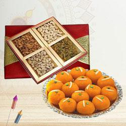 Sumptuous Dry Fruits with Boondi Ladoo