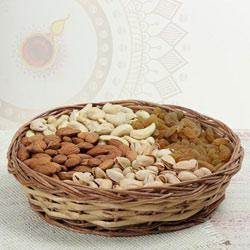 Delectable Mixed Dry Fruits in Basket