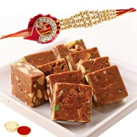 Rakhi with Anjeer Barfi