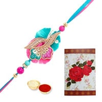 Fancy Rakhi with Rakhi Card for this Raksha Bandhan