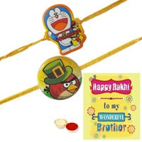 Remarkable Chota Bheem N Angry Bird Kid Rakhi With Thread Rakhi Card