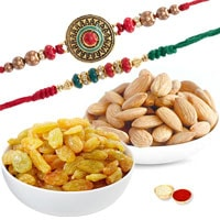 Palatable Dry Fruits and Rakhi Combo