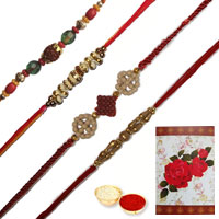 Rocking Combo of 4 Fancy Rakhis