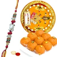 Laddoo and Rakhi Thali
