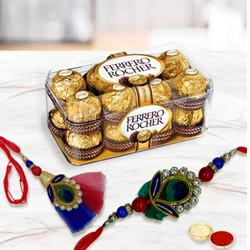 Bhaiya Bhabhi Rakhi with Ferrero Rocher Chocolates