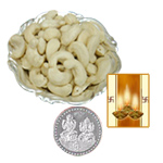 Silver Plated Coin with Cashews