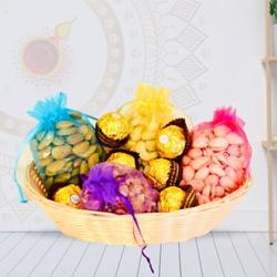 Exceptional Gift Pack of Dry Fruits N Chocolates