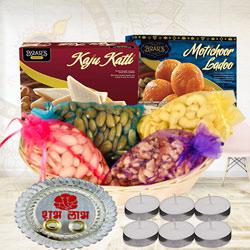 Delightful Sweets N Dry Fruits Gift Combo<br>