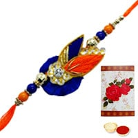 One or More Designer Ethnic Rakhi to USA ( Non Tracking )