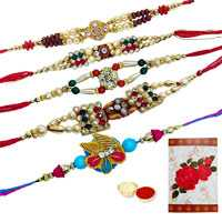 5 Assorted Ethnic Rakhi