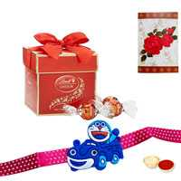 Kids Rakhi with 2 pc Lindt chocolate