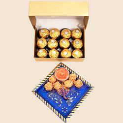Tasty Ferrero Rocher Gift Pack with Ganesha Candle
