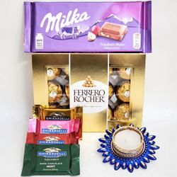 Lovely Gift of Chocolate Assortments with Candle