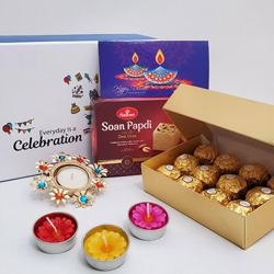 Magical Gift of Sweets N Chocolates with Candle
