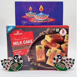 Sumptuous Treat of Milk Cake with Shubh Labh N Card<br>