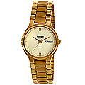 Send Magnificent round dial golden chain strap formal watch for gents from Timex to Thane