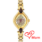 Designer Gold Metallic Wrist Watch for Ladies from Titan Sonata