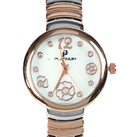 A Charming Silver & Rose Gold Womens Watch adorned with Stones